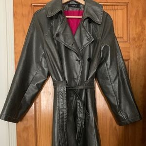 Cool Searle silver trench coat (women's small)